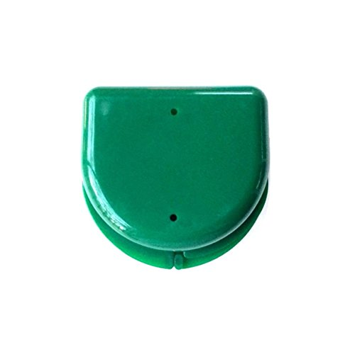 Solid-Style Orthodontic Retainer Case Mouthguard Box Dark Green