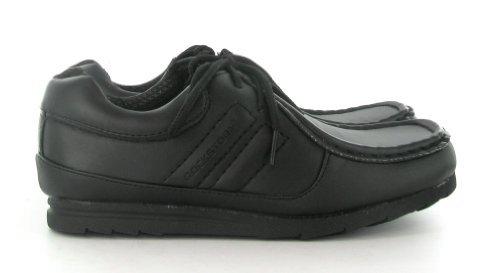 Noir Pour Garçons Chaussures École À Lacets Rockstorm Taille 3