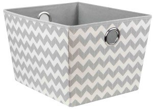 Home Basics Chevron Collection Storage and Organization (Storage Tote)