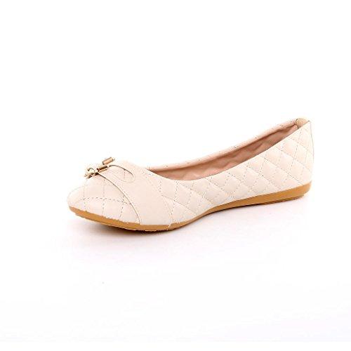 Designer LADIES SHOES New Hausschuhe Beige Schuhe Ballerinas Beige Damen Flats qECY0ww