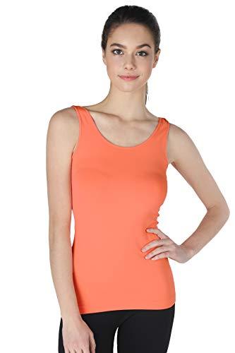 NIKIBIKI Women Seamless Premium Classic Tank Top, Made in U.S.A, One Size (Coral - Peach Camisole