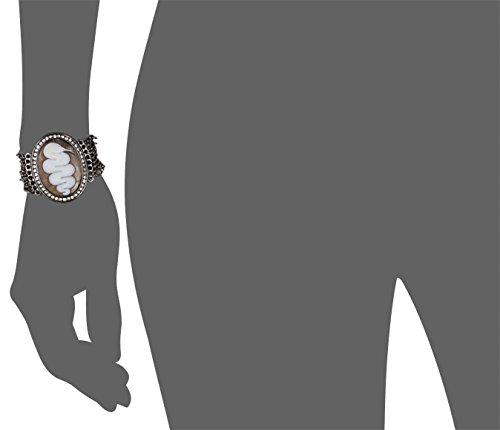 AMEDEO Bracelet Ovale Coquillage Noir Femme