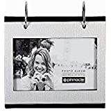 Silver Flip-its tabletop album holds 50-4x6 prints by PINNACLE - 4x6