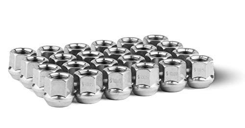 Race Secure 8609 Zinc Finish, M14x1.5 Thread, Open-End Acorn Bulge Wheel Lug Nut, 3/4