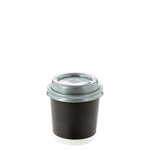 Coffee Cup Lids - Pewter Gray - Plastic - Disposable - Fits 4 oz Coffee Cups -  500ct Box - Restaurantware ()