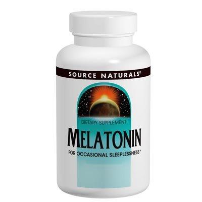 La mélatonine pour l'insomnie occasionnelle 3mg par Source Naturals - 60 comprimés