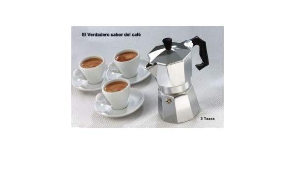 Cafetera italiana clásica metalizada/3 tazas café - Café expresso ...