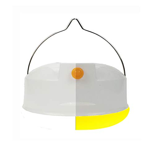 Light Yellow Repellent Bug Bulb (Portable Rechargeable Emergency Camping Lamp Bug Light Bulb Tent Lantern with Power Bank)