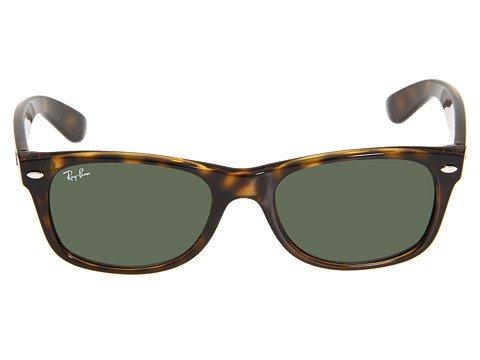 New Ray Ban RB2140 902 Wayfarer Tortoise Frame Crystal Green Lens 54mm Sunglasses