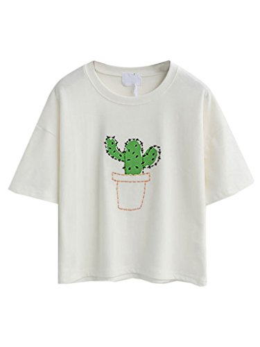 Persun Embroidery Letter Sleeves T shirt