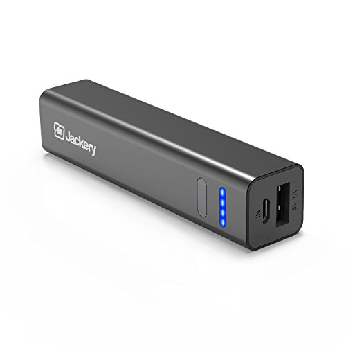 [The Smallest] Jackery Mini 3350mAh Portable Charger - External Battery Pack, Premium Aluminum Power Bank, Portable iPhone Charger for iPhone 7, 6s, Galaxy S7, Galaxy S6 (Black)