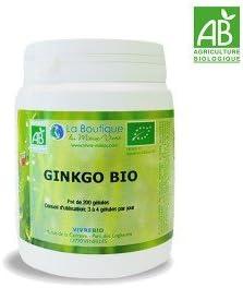 Ginkgo biloba bio, bote 200 comprimidos, ayuda a tener mejor ...