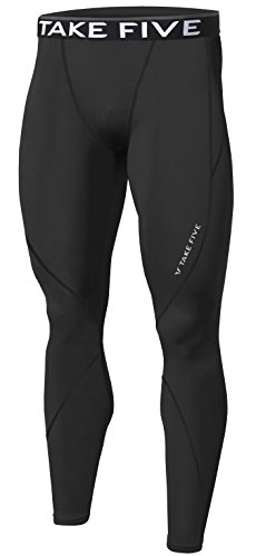 el Skin Tights Compression Base Under Layer Long Pants (M, NP501 BLACK) (Long Tights)