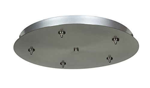 Unijack - Five Port Round Canopy - Brushed Steel Finish Brushed Steel Canopy