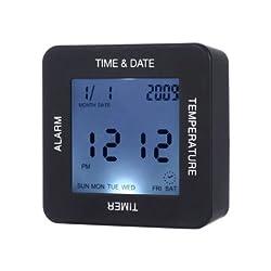 Revolving Alert Time - Function Rotating Induction Alarm Clock Timer Calendar Function - Wheeling Consternation Moving Alarum Warning Device System - 1PCs