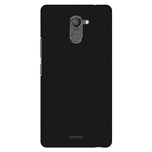 313H93VXuSL - AMZER Slim Fit Handcrafted Designer Printed Hard Shell Case Back Cover for Infinix Hot 4 Pro - Carbon Black With Texture