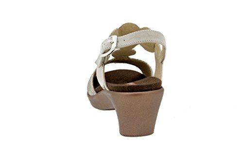 Calzado mujer confort de piel Piesanto 6857 sandalia plantilla extraíble zapato cómodo ancho Vison