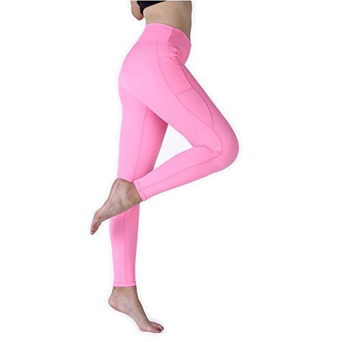 KEENO Women's Yoga Pants high Waist Exercise Running Strength Elastic Yoga Leggings Pants with Pocket