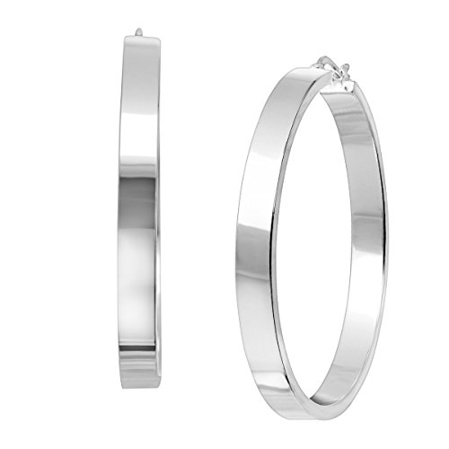 (Silpada 'Isadora' Ribbon Hoop Earrings in Sterling Silver)
