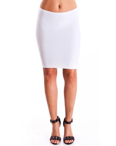 Lined Slim Skirt - 1