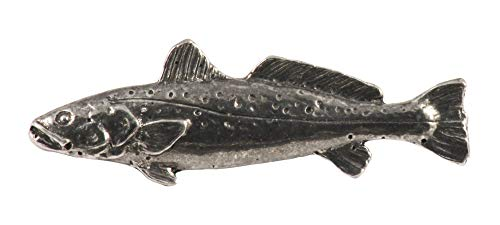 Speckled Trout Fish Pewter S034 Lapel Pin, Brooch, Jewelry ()