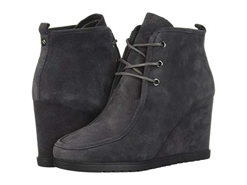 Michael Kors Womens Tamara Lace Up Bootie Leather Round Toe, Charcoal, Size 6.0 - Michael Kors Wedge Boots