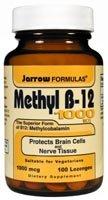 Jarrow Formulas Methyl-B12, 1000mcg, 100 Lozenges
