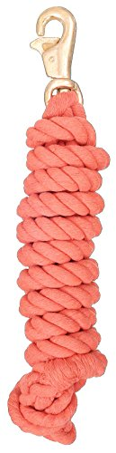 Tough 1 Braided Cotton Lead with Trigger Bull Snap, Orange, 8 1/2' - Lead Bull Snap
