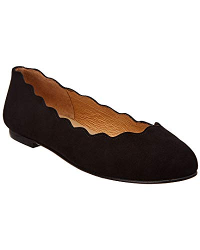 Flats Sole French Suede (French Sole Teardrop Suede Flat, 6.5, Black)