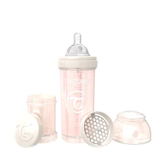 Twistshake Anti-Colic Bottles for Baby Care, Bottle Food Products (260ml/8oz) (Pearl Champagne)