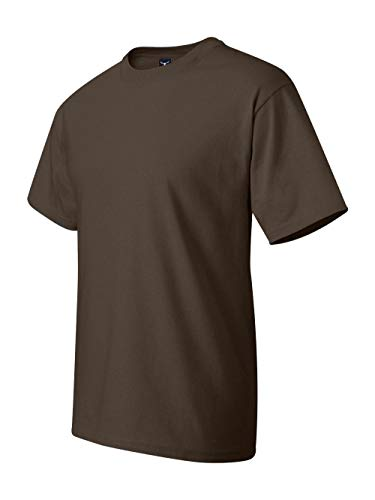 - Hanes Preshrunk 100% Cotton 6.1oz. Beefy-T - Born To Be Worn T-Shirt, LARGE-Dark Chocolate