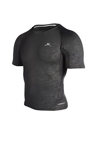 Mission Men's Baselayer Compression Shirt Black