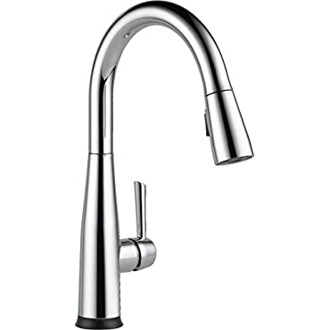 Delta Essa Single Handle Pull-Down Kitchen Faucet w/Touch2O Technology, Chrome