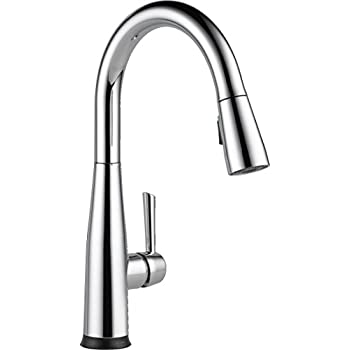 This Item Delta Faucet 9113T DST Essa Single Handle Pull Down Kitchen Faucet  With Touch2O Technology And Magnetic Docking, Chrome