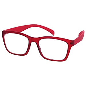 Edge I-Wear High Quality Lightweight Square Frame Reading Glasses 540968SF-2.75-2(M.CLR)