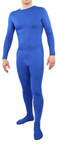 [Seeksmile Unisex Lycra Spandex Zentai Body Suit Hoodless Catsuit (XX-Large, Blue)] (Blue Spandex Suit)
