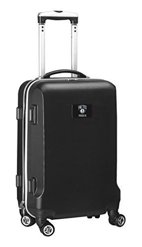 Denco NBA New Jersey Nets Hardcase Domestic Carry-On Spinner, Black, 20-Inch