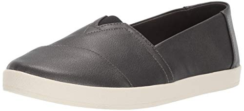 TOMS Women's Avalon Loafer, Black Pearlized, 7.5 Medium US