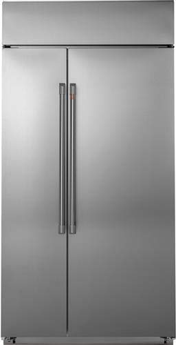 Ge Cafe CSB42WP2NS1 42 Inch Built In Counter Depth Side by Side Refrigerator in Stainless Steel