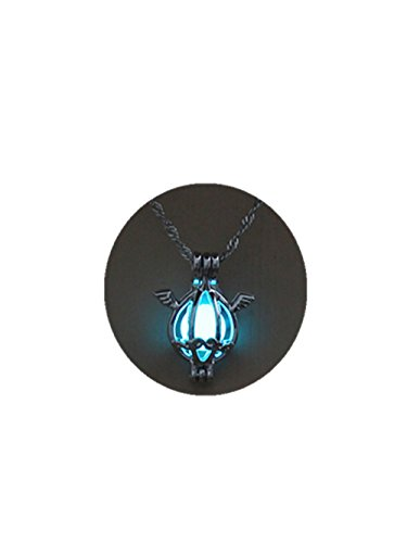 Normal Long Cage (Glow in the Dark Angel Shaped Luminous Stone Choker Long Pendant Necklace for Women (light blue))