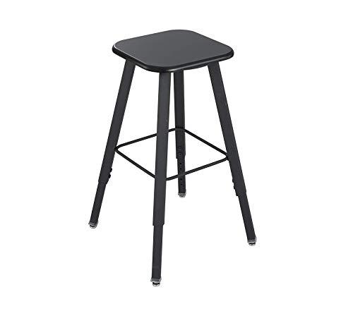 Sаfcо Prоducts Alphabetter Stool for Alphabetter Stand-Up Desk (Sold Separately), Black Frame/Black -