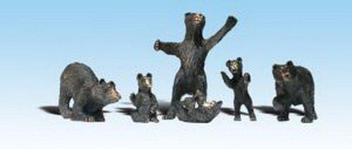 (Woodland Scenics HO Black Bears WOOA1885 )