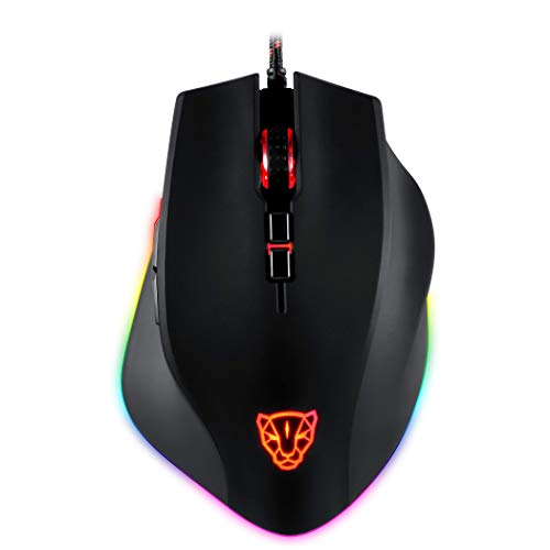 - MOTOSPEED USB Wired Gaming Mouse for PC Games RGB Breathing Backlit 8 Buttons 5000 DPI,Comfortable Grip Ergonomic Optical Sensor MW3325 PC Computer Gaming Mice