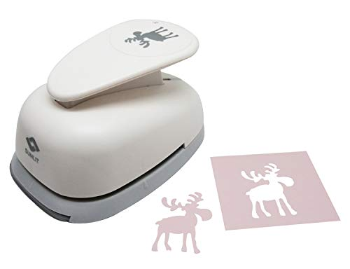 Bira 3 inch Moose 2 Lever Craft Punch, Christmas Punch, for Paper Crafting Scrapbooking Cards Arts DIY Project