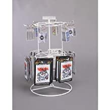 12 Peg - 2 Tier Counter Spinner Display Rack (White) (2 Pieces)