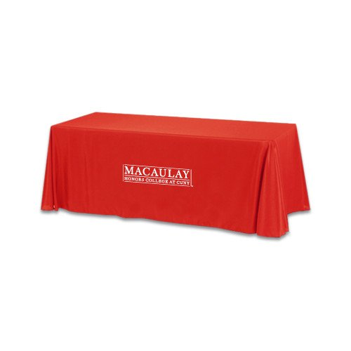 Macaulay Honors Red 6 foot Table Throw 'Official Logo' by CollegeFanGear