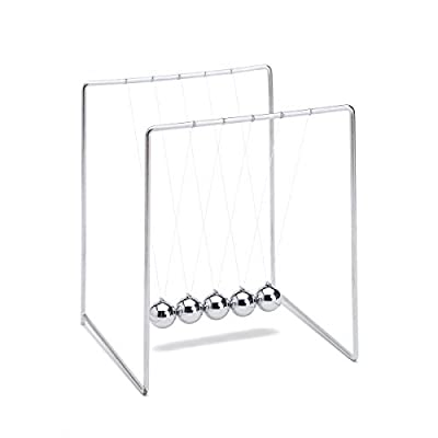 THY COLLECTIBLES Unique Stainless Steel Newtons Cradle Balance Balls 4.5 inch Desk Top Decoration Kinetic Motion Toy for Home and Office: Toys & Games