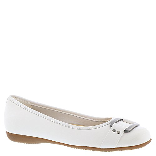 Trotters Womens Sizzle Signature Ballet Flat White