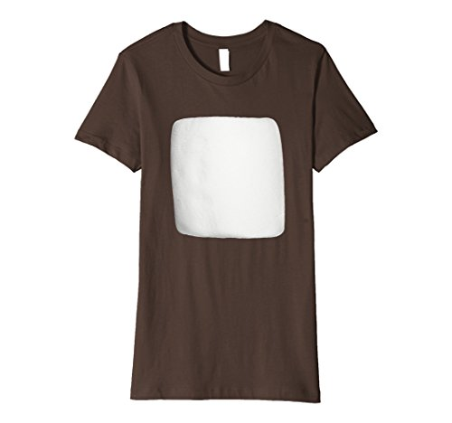 Smores Family Costume (Womens Smores Marshmallow Matching Halloween Costume Shirt Medium Brown)