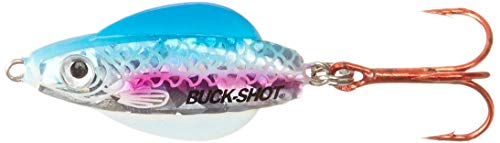 Northland Tackle BRGS4-25 Buck-Shot Ider Spoon 1/Cd Buck-Shot Ider Spoon, CD, Glow Rainbow, 3/8 oz ()